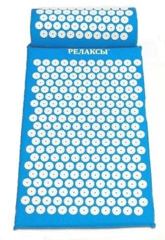 Набор аппликатор Кузнецова коврик + валик, голубой