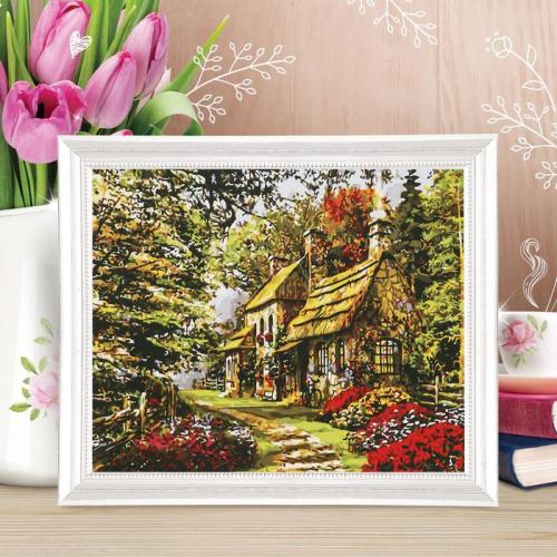Картина по номерам по Картина по номераму «Прелестный дом» по номерам с красками по 3 мл+ кисти+крепеж, 30×40 см
