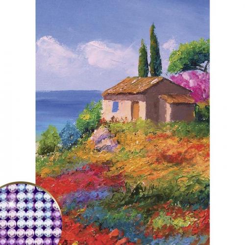 Алмазная вышивка с частичным заполнением «Пейзаж», 15 х 21 см. Набор для творчества