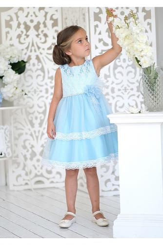Платье #198099Амита голубой