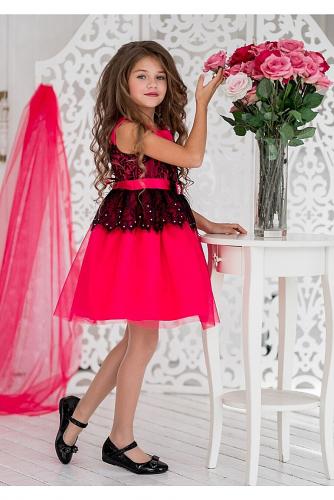 Платье #198188Кармелита малиновый