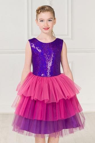 Платье #248311Фиолетовый