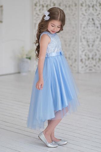 Платье #248943Голубой