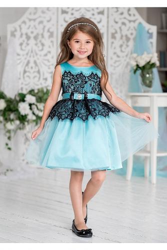 Платье #198183Кармелита бирюзовый