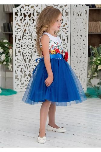 Платье #198093Алолика синий