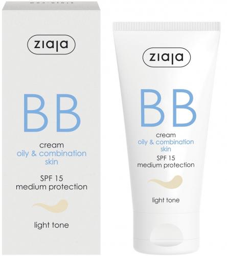 BB крем для жирной и комбинированной кожи с SPF15 - светлый тон Ziaja | BB cream oily, combination skin light tone spf15 Ziaja50 мл
