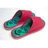 Массажные тапочки Шиацу из экокожи, женские, розовый 36-38 р