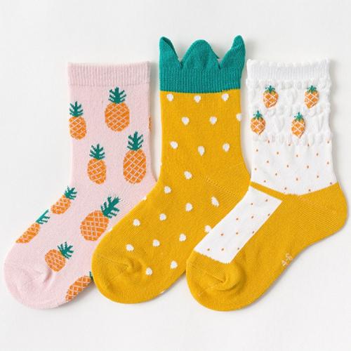 Набор детских носков «Ананасы» в мягкой упаковке, 3 пары C563793