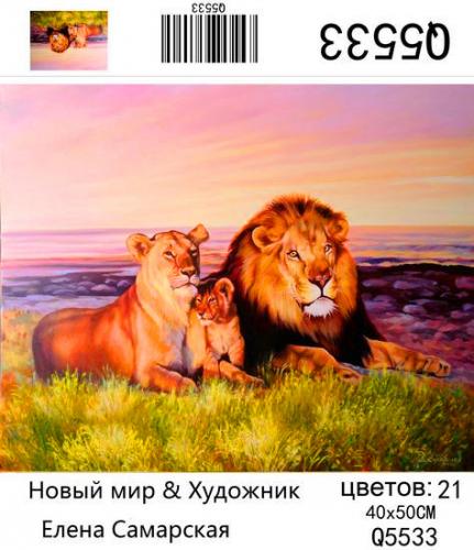Q5533 Картины-раскраски по номерам 40х50