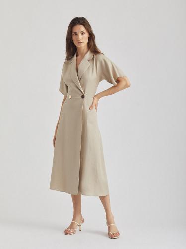 Платье со съемной баской