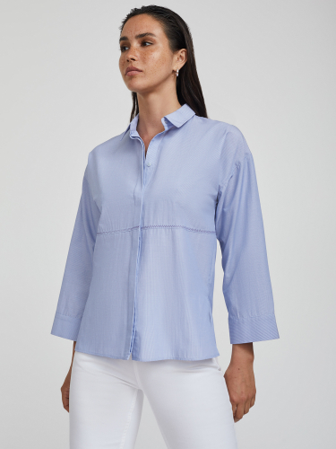 Рубашка из хлопка со строчкой