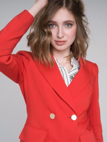 Жакет с накладными карманами