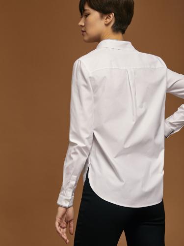 Блуза из хлопка с разрезами