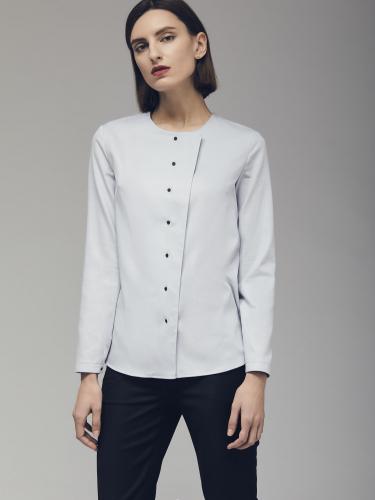 Хлопковая рубашка с контрастными пуговицами