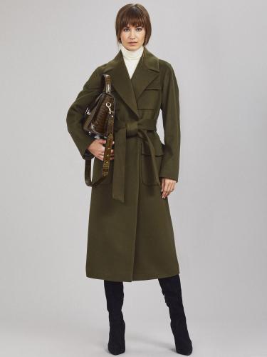 Шерстяное пальто с накладными карманами