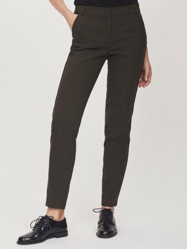 Зауженные брюки со вставками