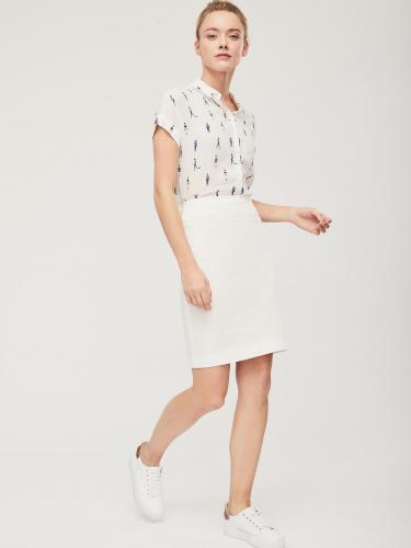 Прямая юбка с отделочными строчками
