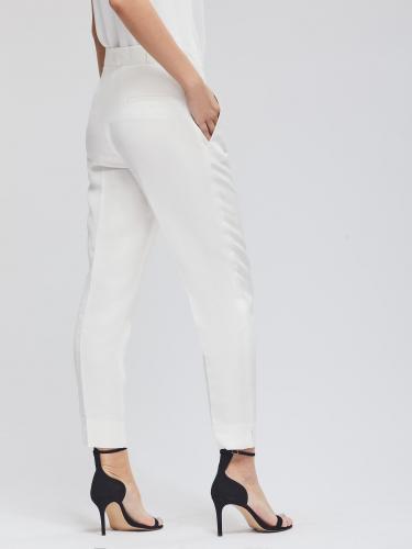 Укороченные брюки из льняной ткани