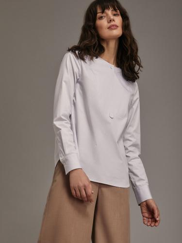 Блуза из хлопка прямого силуэта