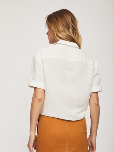 Льняная рубашка с завязками