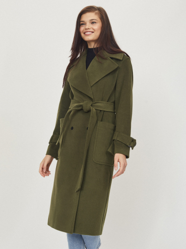 Длинное пальто с поясом