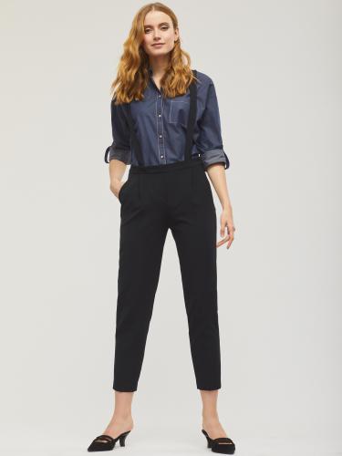 Укороченные брюки с отстёгивающимися подтяжками