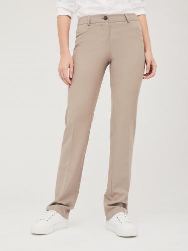Прямые брюки средней посадки