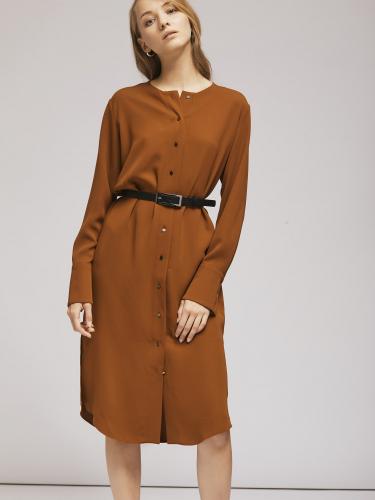 Платье на пуговицах с широкими манжетами
