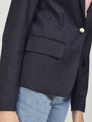 Укороченный жакет в джинсовом стиле