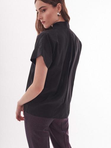 Блуза из смесового хлопка