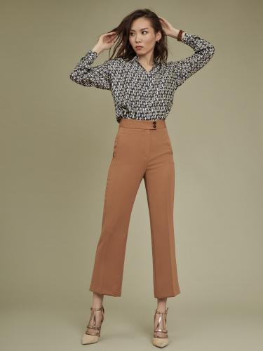 Блуза-боди с дизайнерским принтом