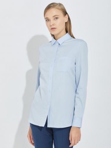 Рубашка из хлопка с шелком