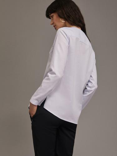 Блуза с разрезами из хлопка
