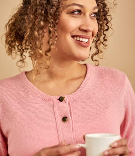 Женская шерстяная кофта из натуральной шерсти ягненка