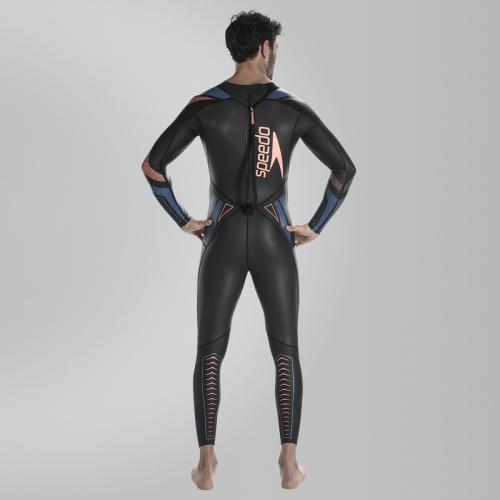 SPEEDO FASTSKIN XENON THINSWIM L/S MALE FULLSUIT костюм закрытый, (C144) чер/син
