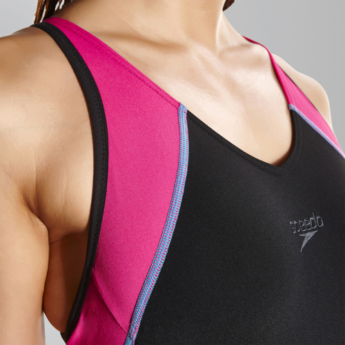SPEEDO Fit Splice Muscleback купальник жен, (B724) черн/роз