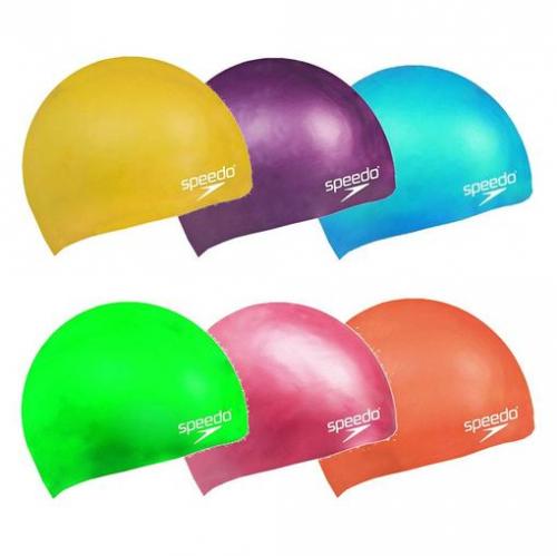 SPEEDO Plain Moulded Silicone Junior шапочка дет, (6526) набор