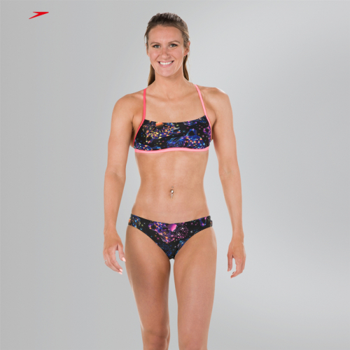 SPEEDO Diamondize 2 Piece Crossback купальник подрост, (C536) чер/роз