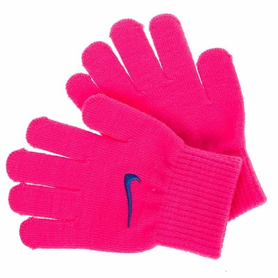 228р. 590р. KIDS KNITTED GLOVES, детские вязанные перчатки, (697) роз/голуб