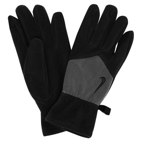 574р. 1490р. NIKE SPORT FLEECE TECH GLOVES S BLACK/LIGHT ASH, перчатки флис, (035) черн/сер
