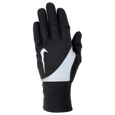 1015р. 3690р. NIKE WOMEN'S SHIELD RUN GLOVES L BLACK, женские перчатки для бега, (001) черн