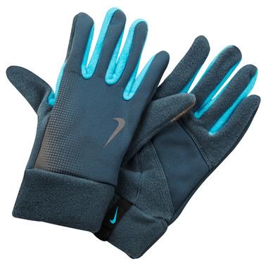 713р. 2590р. NIKE WOMEN'S TECH THERMAL RUNNING GLOVES L ARMORY SLATE/GAMMA BLUE, перчатки для бега, (040) син-серый/син