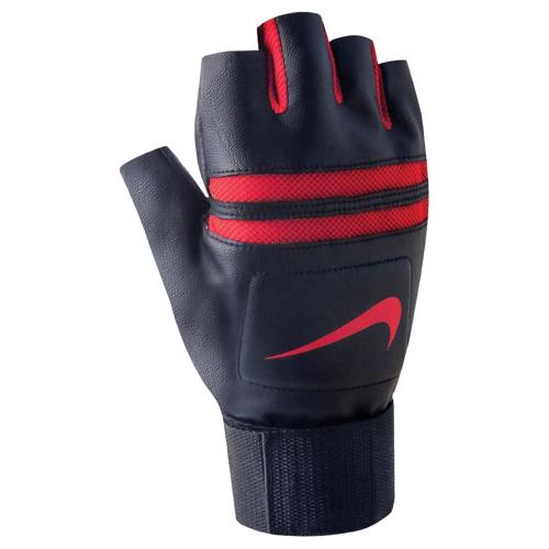 NIKE MEN'S K.O. TRAINING GLOVES S BLACK/UNIVERSITY RED, перчатки для зала, (002) чер/красн