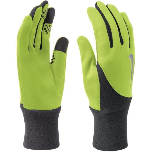 NIKE MEN'S ELEMENT THERMAL RUN GLOVES M VOLT/ANTHRACITE, мужские перчатки для бега, (707) салат/чер