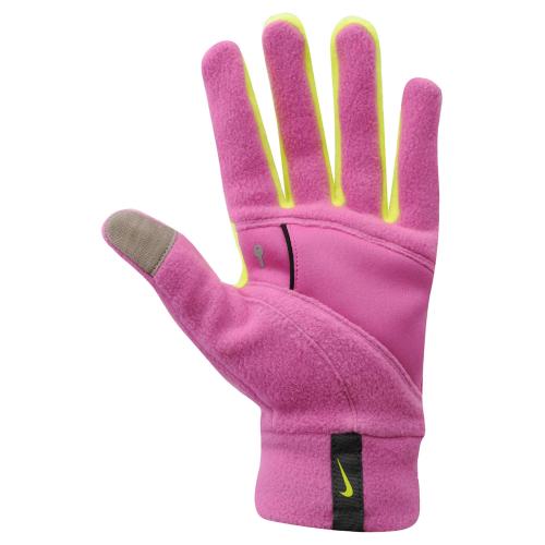 713р. 2590р. NIKE WOMEN'S TECH THERMAL RUNNING GLOVES M CLUB PINK/VOLT, перчатки для бега, (670) роз/салат
