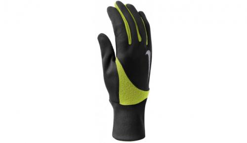 548р. 1990р. NIKE MEN'S ELEMENT THERMAL 2.0 RUN GLOVES L BLACK/VOLT, мужские перчатки для бега, (023) чер/зел