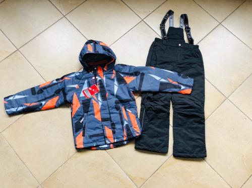 Демисезонный мембранный утепленный комплект MYS цвет Orange Grey р. 140+