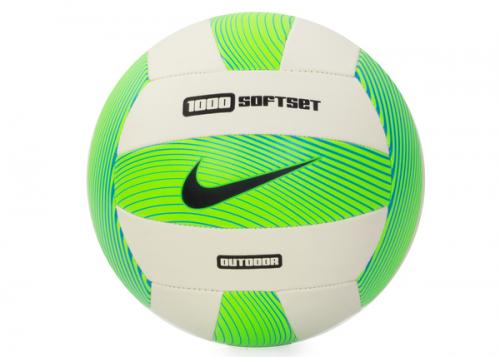 NIKE 1000 SOFTSET OUTDOOR VOLLEYBALL INFLATED WITH BOX NS GAMMA BLUE/WHITE/HYPER COBALT/BLACK, волейбольный мяч, (938) син/бел/син/черн