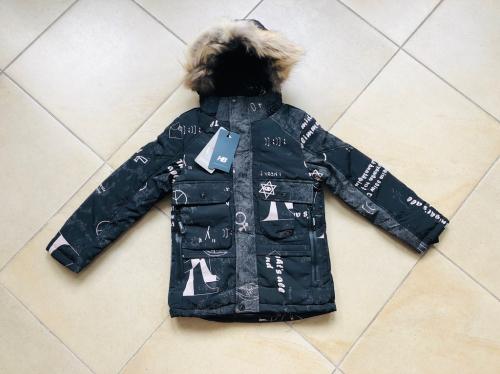 Зимняя мембранная куртка HB Collection цвет Black р. 122+