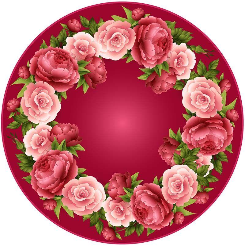 браслеты актуальные картинка цветочная круглая раскатать
